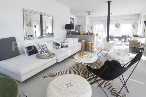 living area-wonderful modern villa-magnificent setting-Na Xamena