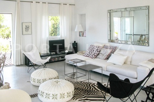 livingroom-wonderful modern villa-magnificent setting-Na Xamena