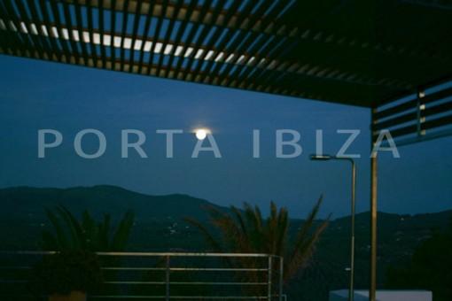 moon & terrace-wonderful modern villa-magnificent setting-Na Xamena