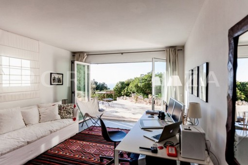 office & guestroom-wonderful modern villa-magnificent setting-Na Xamena