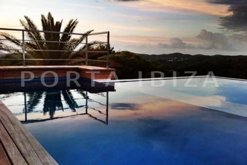 pool area-wonderful modern villa-magnificent setting-Na Xamena