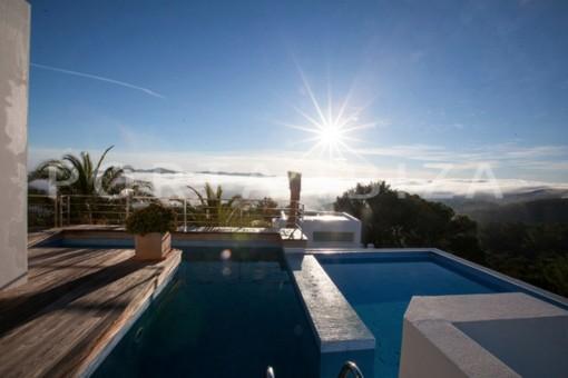 pool-wonderful modern villa-magnificent setting-Na Xamena