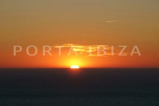 sunset-wonderful modern villa-magnificent setting-Na Xamena