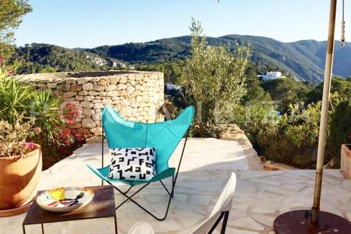 terrace guestroom-wonderful modern villa-Na Xamena