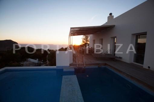 terrace-wonderful modern villa-magnificent setting-Na Xamena