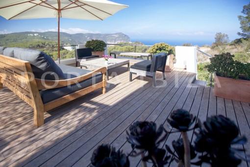 terrace-wonderful modern villa-Na Xamena