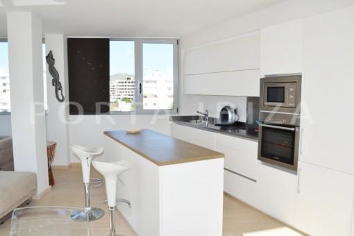 kitchen-beautiful apartment-Botafoch-sea views