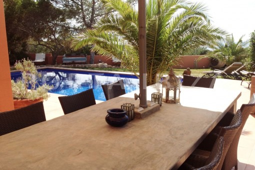 pool & dinner-gorgeous property-phenomenal sea and sunset view