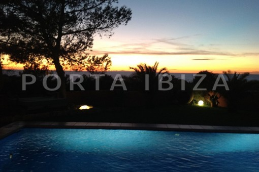 sunset-gorgeous property with a phenomenal sea and sunset view