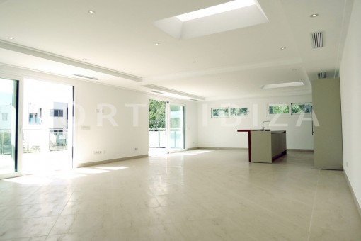 living & kitchen-beautiful new construction villa at Can Pepsimo