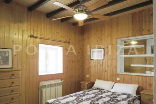 bedroom1-charming house-central- near Cala Pada