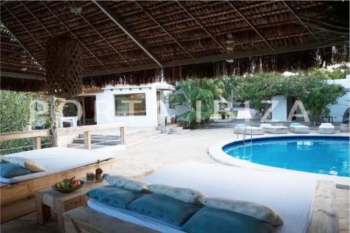 chillout & pool-wonderful villa-San José-mediterranean garden