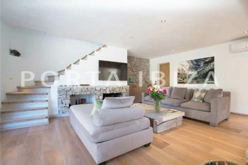 livingroom-wonderful villa-San José-mediterranean garden