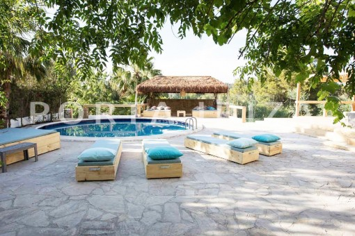 pool & chill-wonderful villa-San José-mediterranean garden