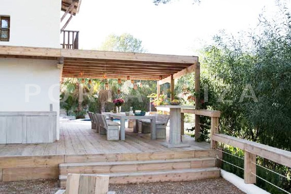 terrace-wonderful villa-San José-mediterranean garden
