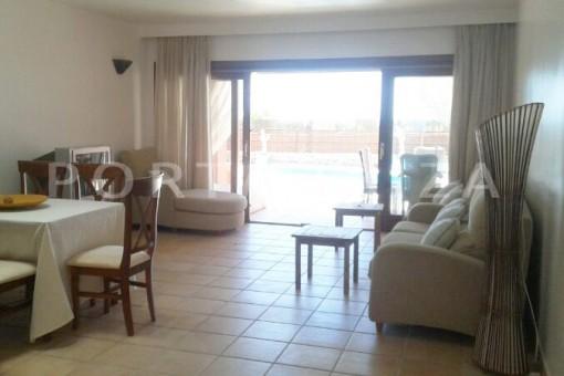 living-nice terraced house-cala moli-with pool