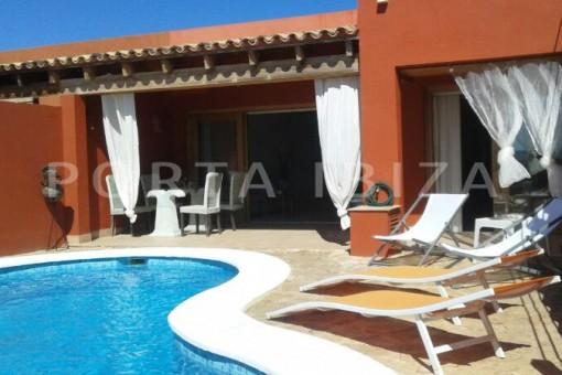 pool area-nice terraced house-cala moli