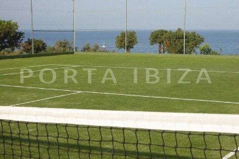 tennis court-nice terraced house-cala moli-with pool