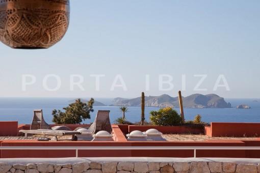 terrace-nice terraced house-cala moli-with pool