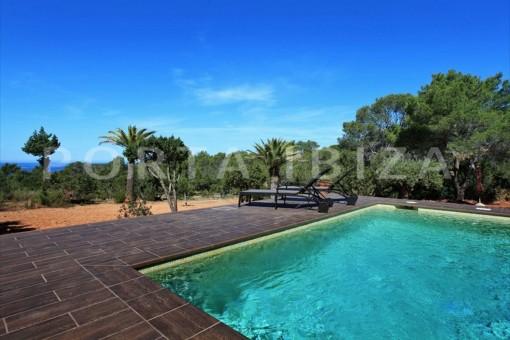 Fabelhafte Villa mit Meerblick oberhalb Cala Conta und Cala Tarida