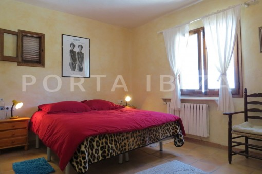 bedroom3-high quality country house-Es Cubells-fabulous landscape views