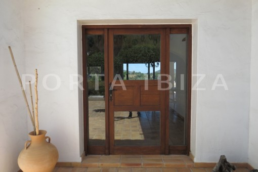 entrance area-high quality country house-Es Cubells-fabulous landscape views
