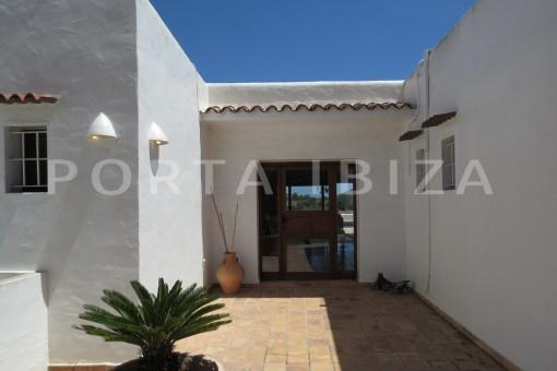 entrance-high quality country house-Es Cubells-fabulous landscape views