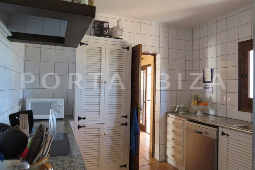 kitchen area-high quality country house-Es Cubells-fabulous landscape views
