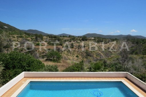 pool-country house-Es Cubells-fabulous landscape views