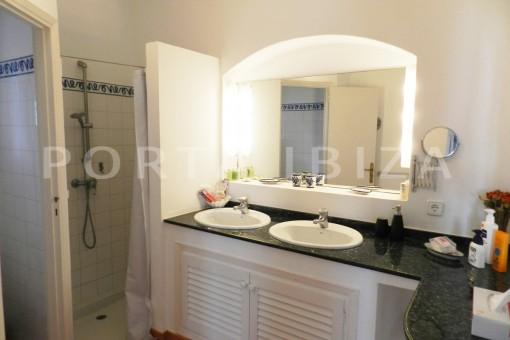 bathroom-wonderful villa with sea view at can germá