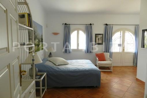 bedroom3-wonderful villa with sea view at can germá