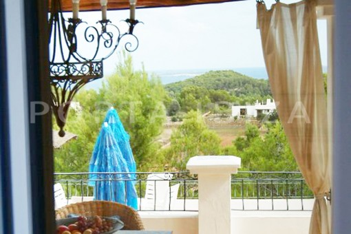 campo view-wonderful villa with sea view at can germá