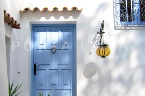 entrance-wonderful villa with sea view at can germá