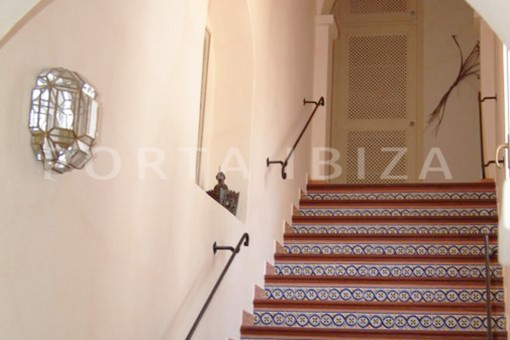 stairs-wonderful villa with sea view at can germá