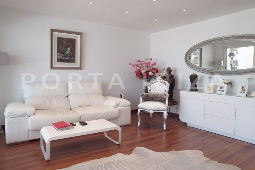 living room-modern-super well maintained apartment-fantastic sea and sunset view