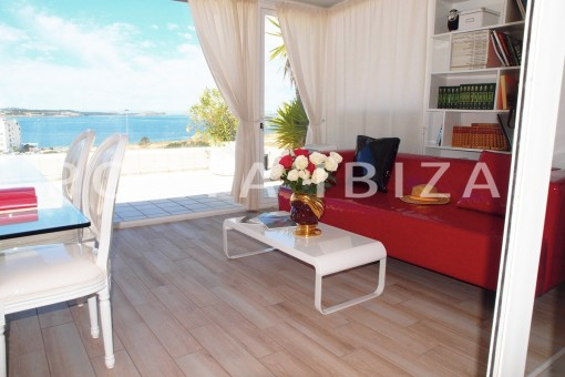 terrace chillout-modern-super well maintained apartment-fantastic sea and sunset view