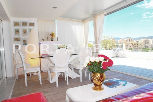 terrace-super maintained apartment-fantastic sea and sunset view