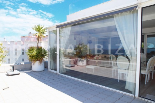 terrace-super well maintained apartment-fantastic sea and sunset view
