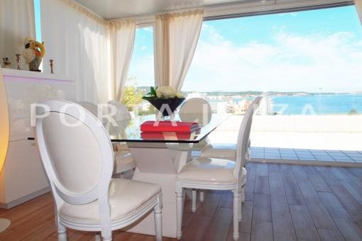 terrace with fantastic sea and sunset view-modern-super well maintained apartment
