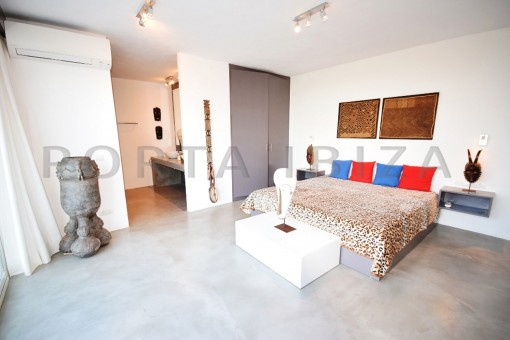 bedroom 2-high quality & modern villa-cala conta-sea view