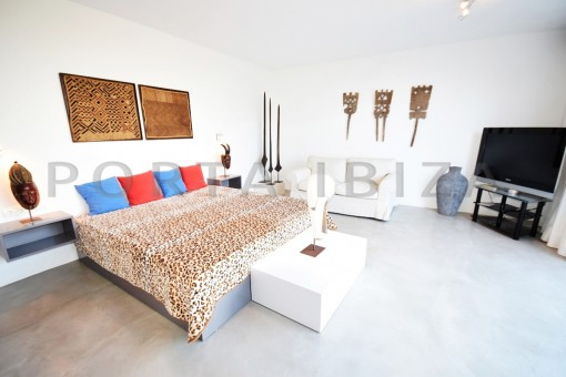 bedroom2-high quality & modern villa-cala conta-sea view