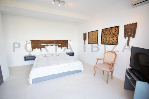 bedroom3-high quality & modern villa-cala conta-sea view