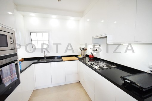 kitchen-high quality & modern villa-cala conta-sea view
