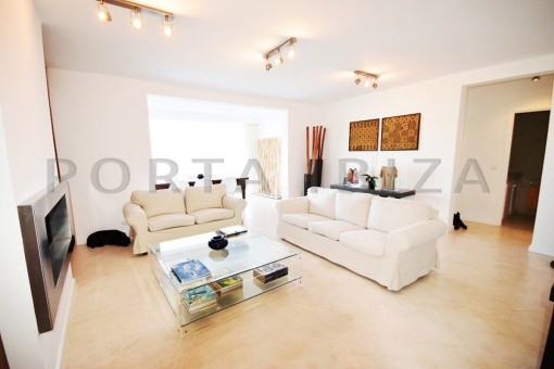 livingroom-high quality & modern villa-cala conta-sea view