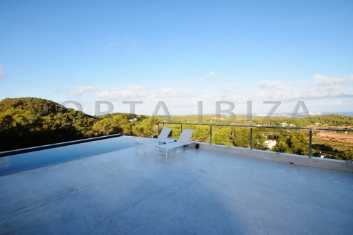 pool-high quality & modern villa-cala conta-sea view