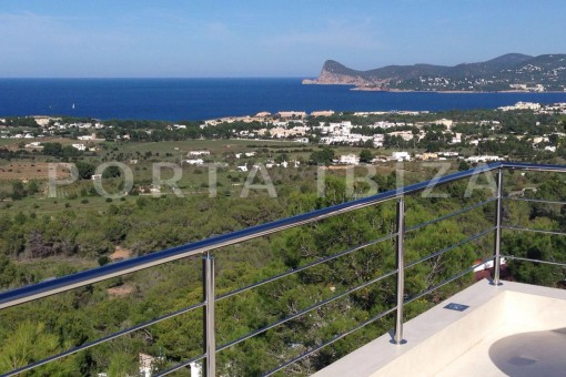 terrace view-high quality & modern villa-cala conta