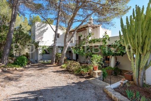 back terrace-incredible property-fabulous panoramic views-Es Vedra