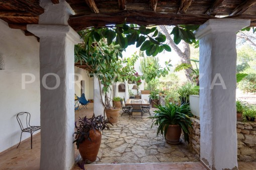 back yard area-incredible property-fabulous panoramic views-Es Vedra