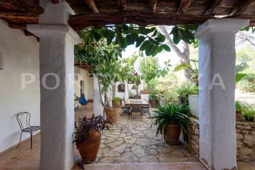 back yard area-incredible property-fabulous panoramic views-Es Vedra