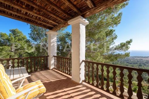 balcony-incredible property-fabulous panoramic views-Es Vedra